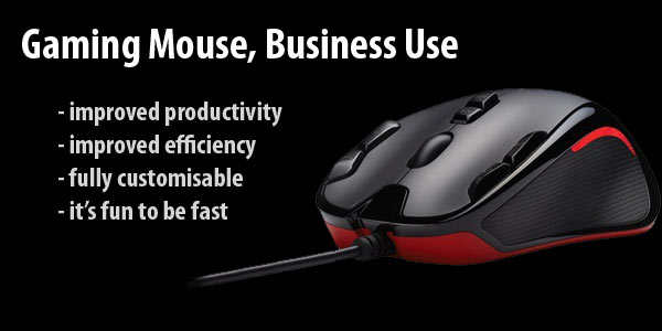 Gaming mouse for business and marketing purposes. Increase efficiency and productivity.