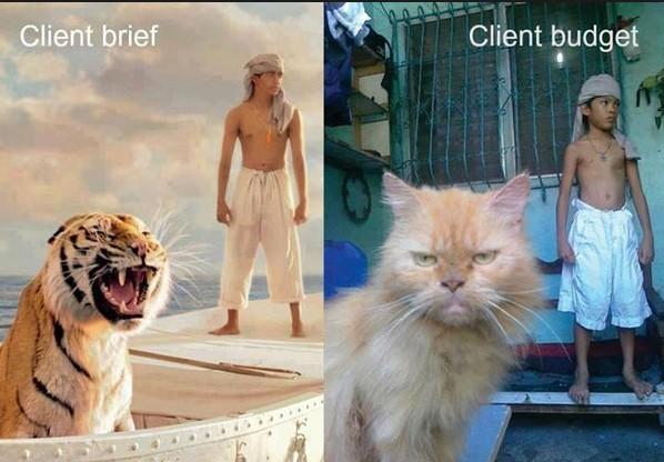 client budget vs client expectations
