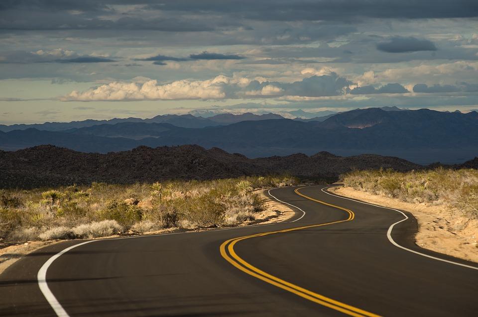 mandatory highway stock photo
